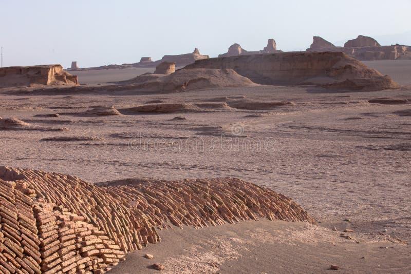 Shahdad öken arkivbild