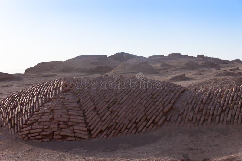 Shahdad öken arkivfoto