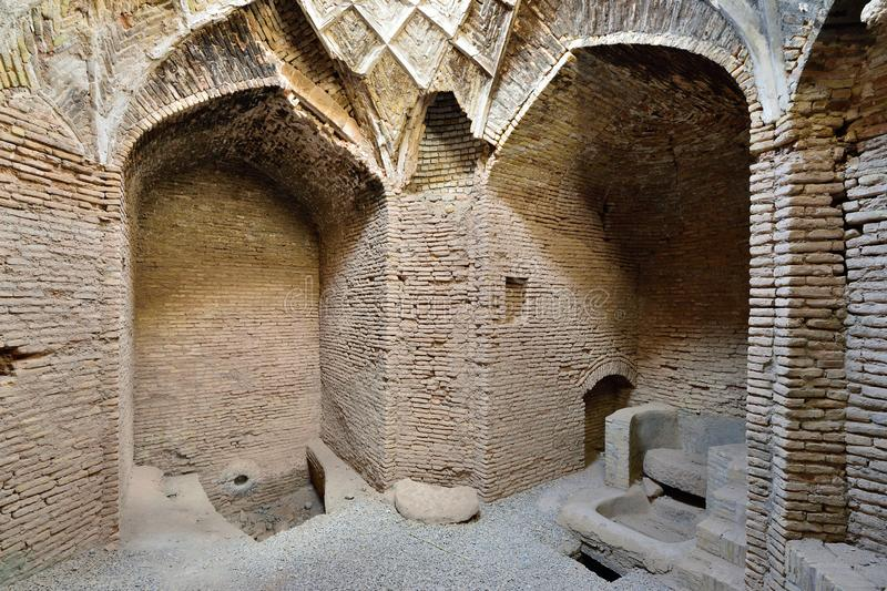Shahdad oas i Iran forntida watermill arkivbilder