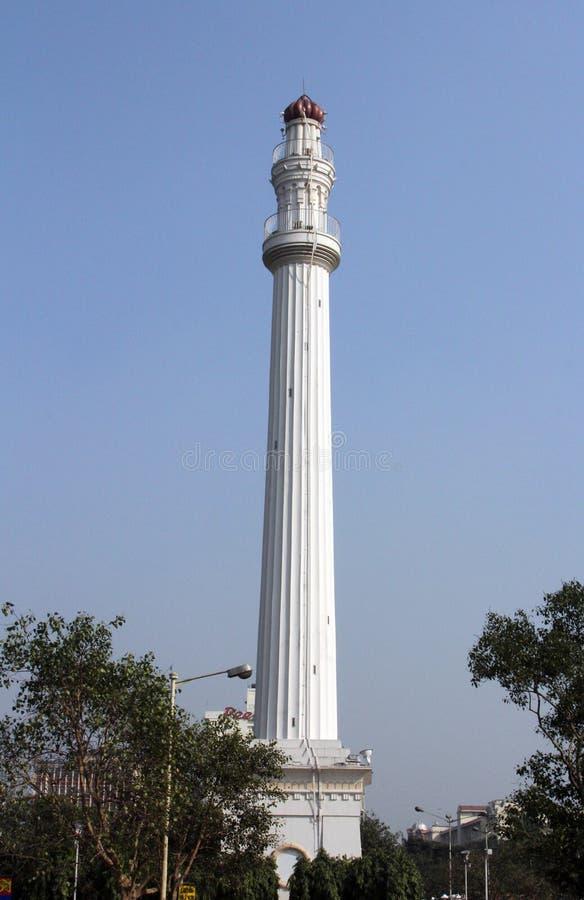 Shaheed Minar als het Ochterlony-Monument in Kolkata vroeger wordt bekend die royalty-vrije stock afbeeldingen