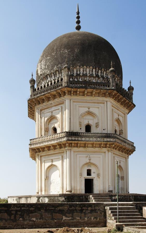 Shahi van Qutb het Achthoekige Mausoleum van Twee Verhaal stock fotografie