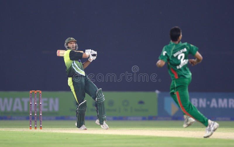 Shahid Afridi photographie stock libre de droits