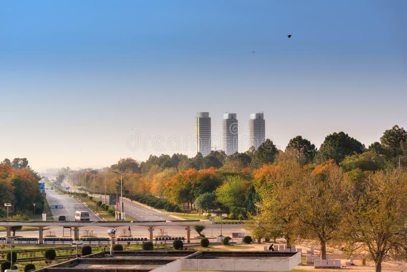 Shahra Faisal Islamabad Pakistan immagini stock libere da diritti