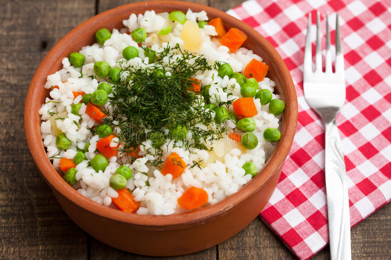 Shai Pulao or Vegetable Rice stock photography