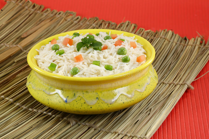 Shai Pulao or Vegetable Rice or Indian Vegetable Biryani royalty free stock images