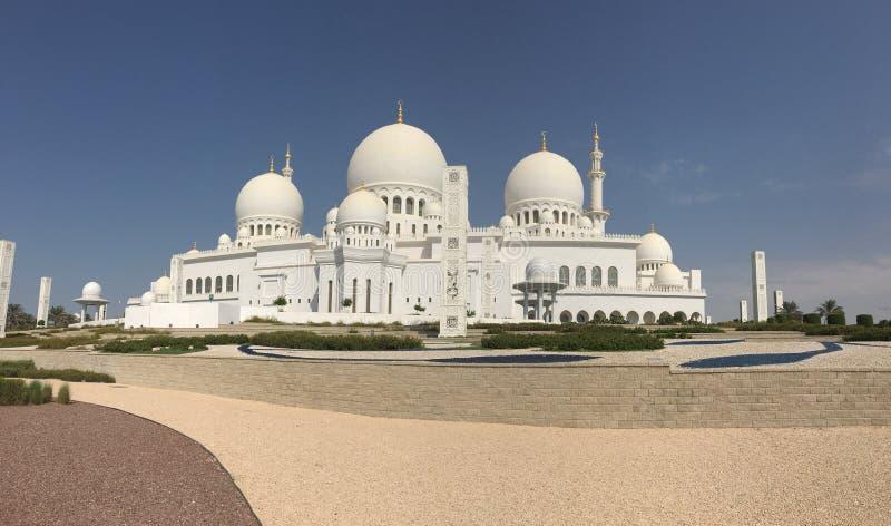 Shaikh Zyad Grand Mosque, Abhu-Dhabi stock images