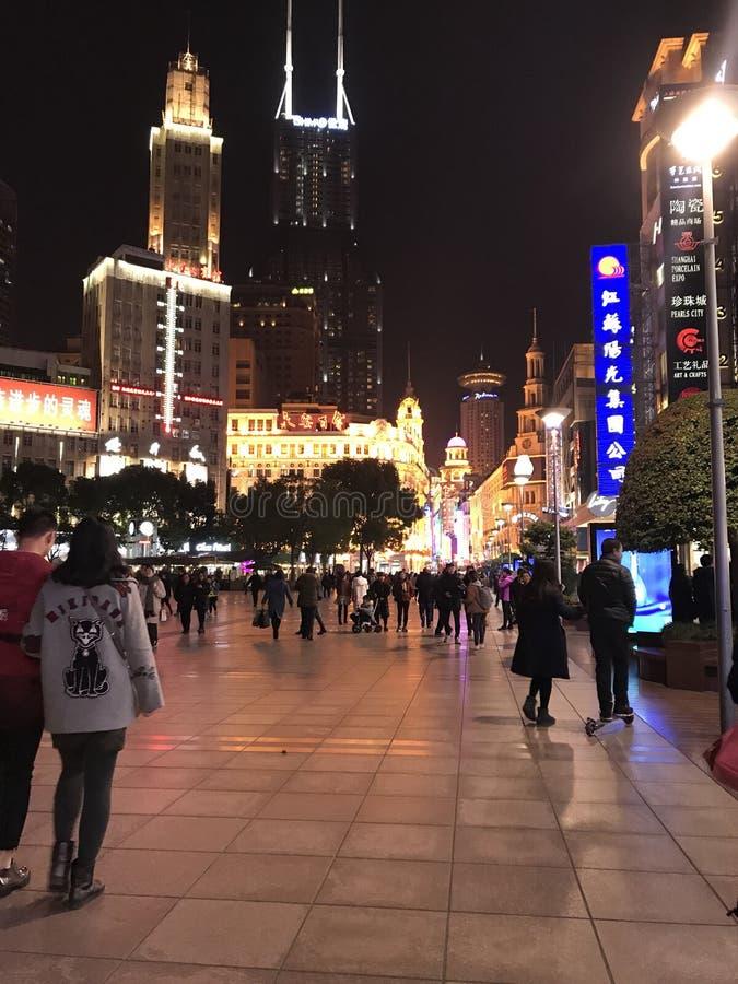 Shainghai night street royalty free stock photos