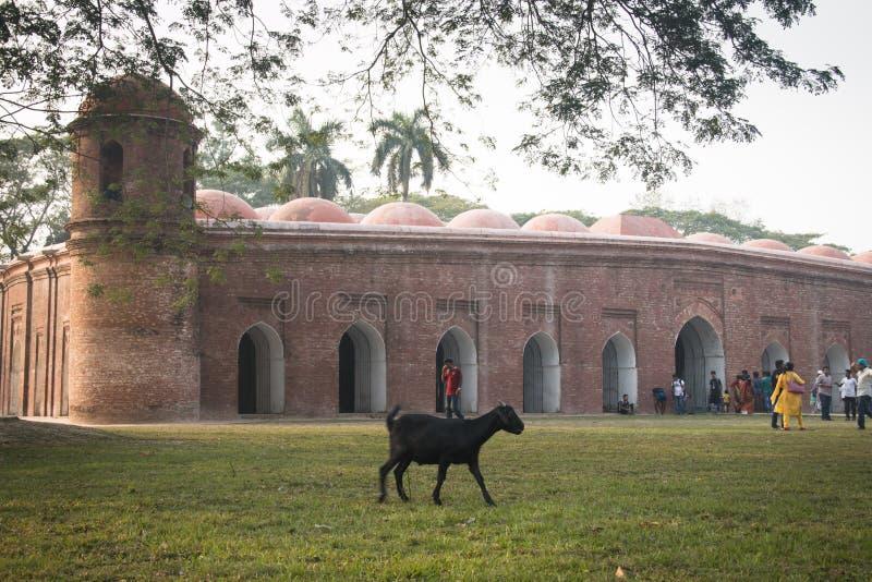 Shait Gumbad meczet w Bagerhat, Bangladesz fotografia stock