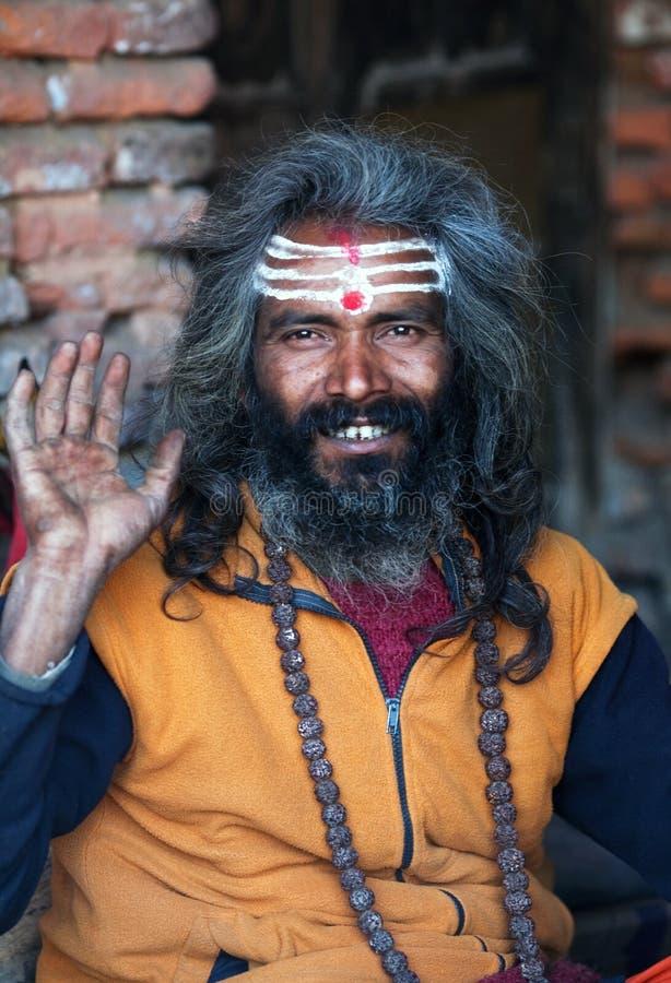 Shaiva sadhu (holy man) stock images