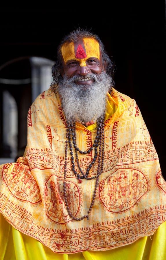 Shaiva sadhu in Pashupatinath, Nepal royalty free stock images