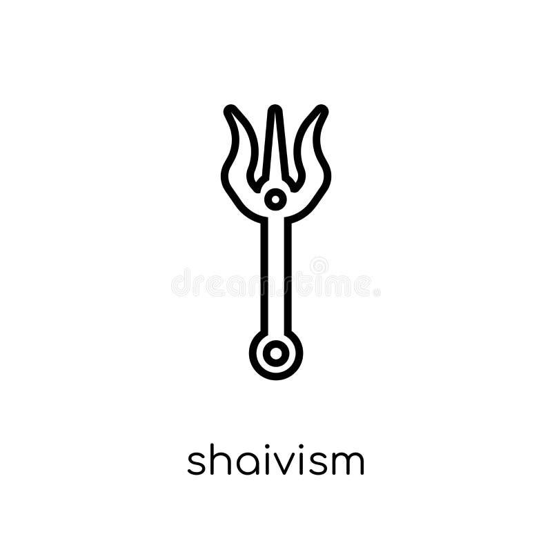 shaivismpictogram In modern vlak lineair vectorshaivismpictogram  vector illustratie