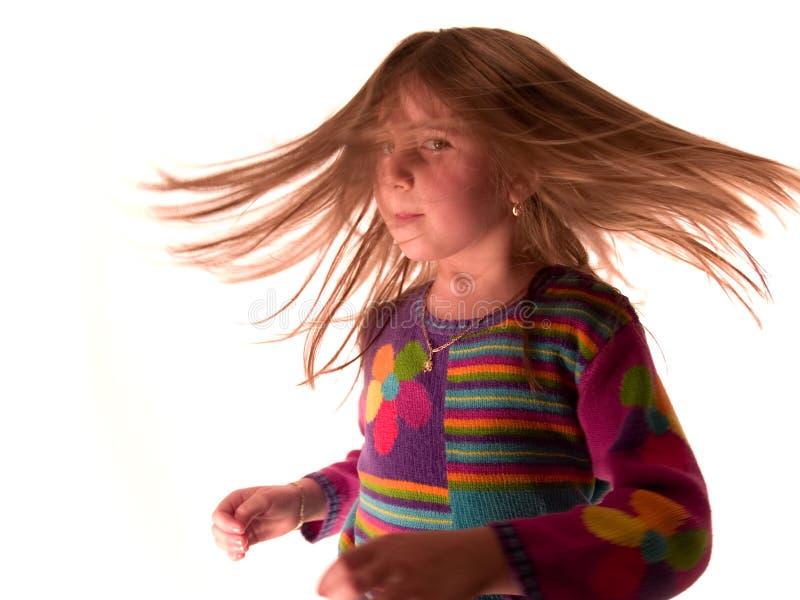 shake волос стоковое изображение rf