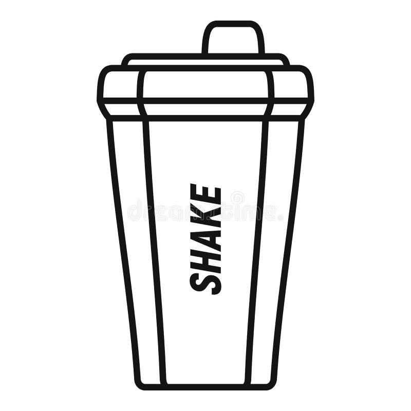 Shake bottle icon, outline style vector illustration