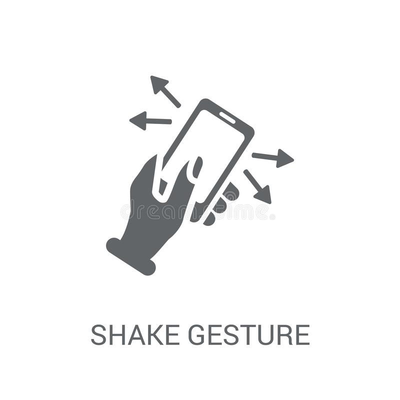 Shake gesture icon. Trendy Shake gesture logo concept on white b. Ackground from Hands collection. Suitable for use on web apps, mobile apps and print media stock illustration