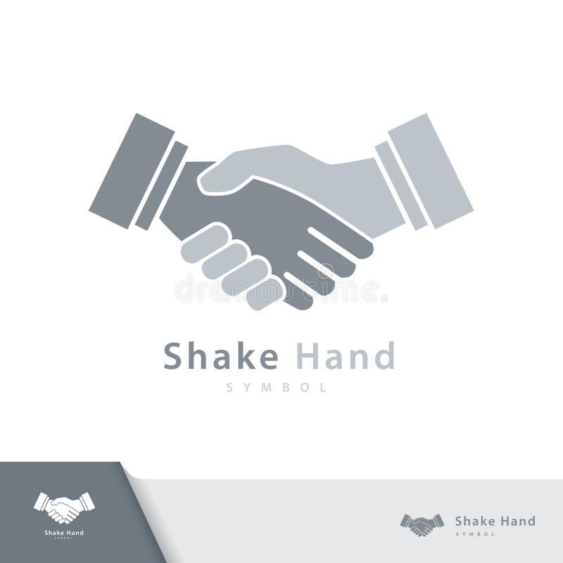 Shake hand symbol icon. Shake hand symbol icon isolated on white background. Vector illustration, Logo template design stock illustration