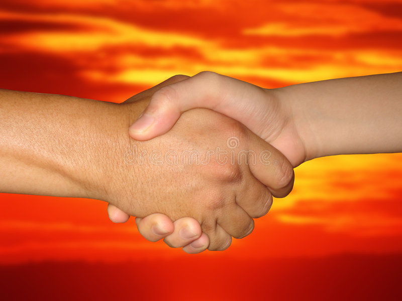 Shake-hands royalty free stock image