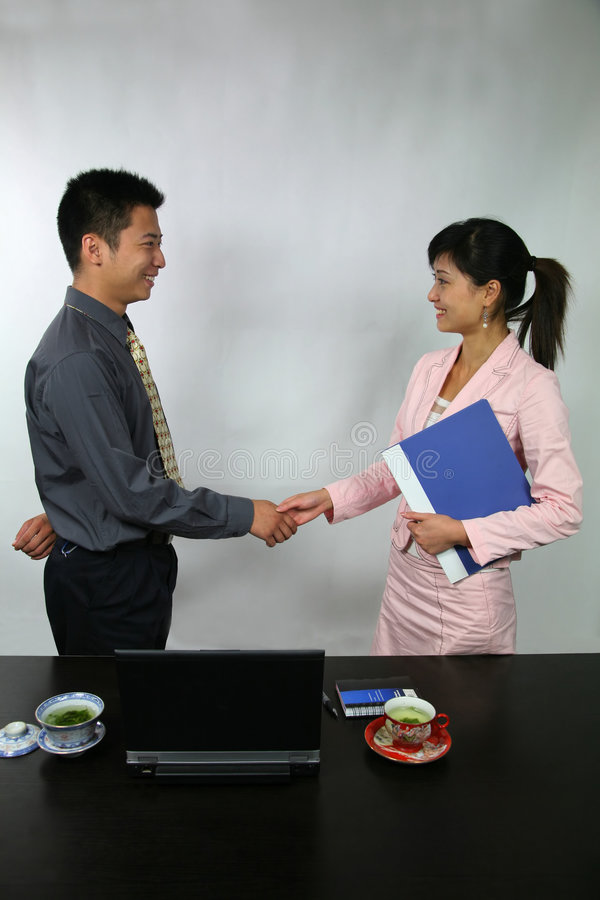 Shake hands royalty free stock image