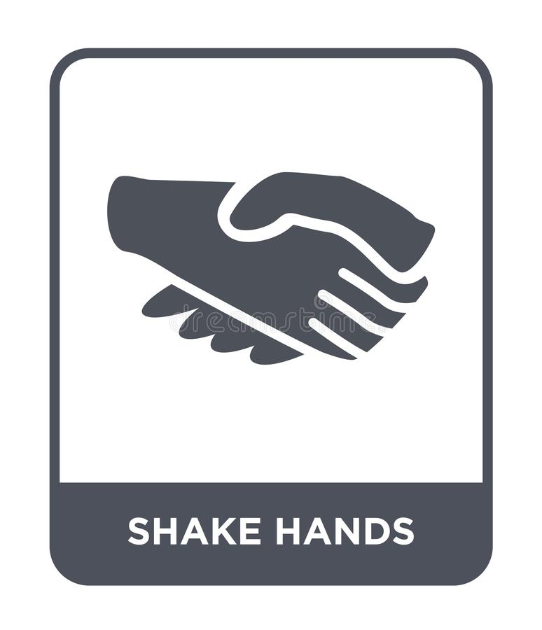 Shake hands icon in trendy design style. shake hands icon isolated on white background. shake hands vector icon simple and modern. Flat symbol for web site vector illustration