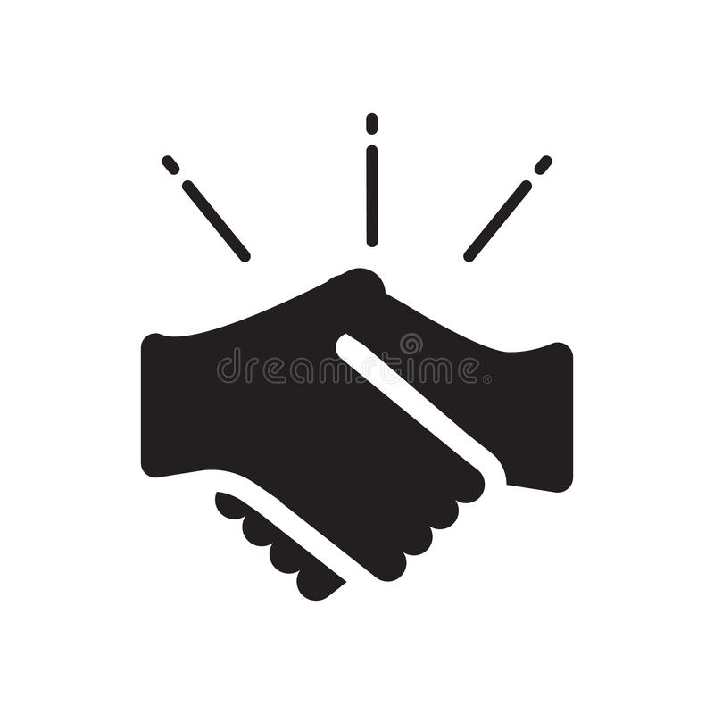 Shake hands icon. Trendy Shake hands logo concept on white background from Insurance collection. Suitable for use on web apps, mobile apps and print media stock illustration