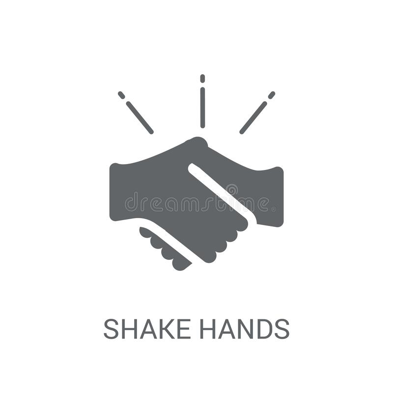 Shake hands icon. Trendy Shake hands logo concept on white background from Insurance collection. Suitable for use on web apps, mobile apps and print media vector illustration
