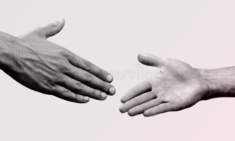 Shake hands isolated on background. Hands shake human success male man corporate royalty free stock photography