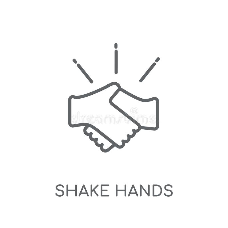 Shake hands linear icon. Modern outline Shake hands logo concept. On white background from Insurance collection. Suitable for use on web apps, mobile apps and royalty free illustration