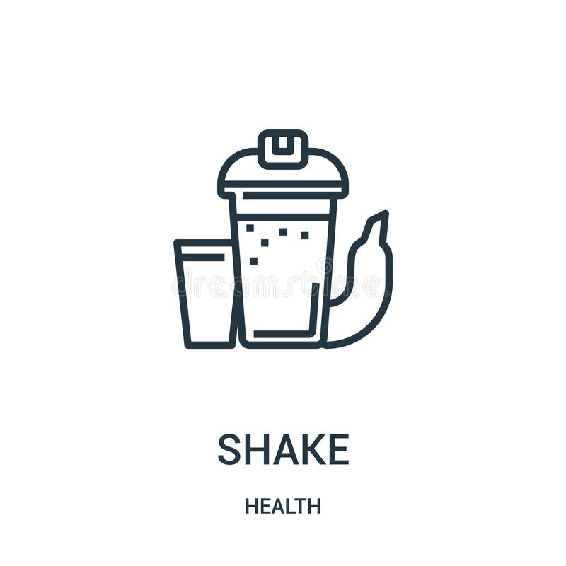 Shake icon vector from health collection. Thin line shake outline icon vector illustration. Linear symbol for use on web and. Mobile apps, logo, print media stock illustration