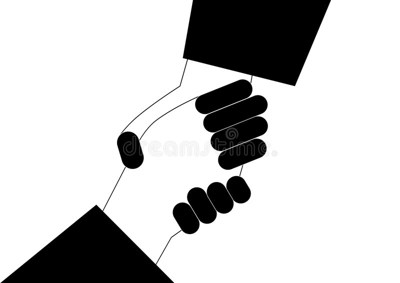 shake ręce royalty ilustracja