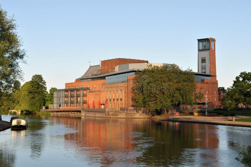 Shakepeare Theatre i Stratford på Avon arkivfoton