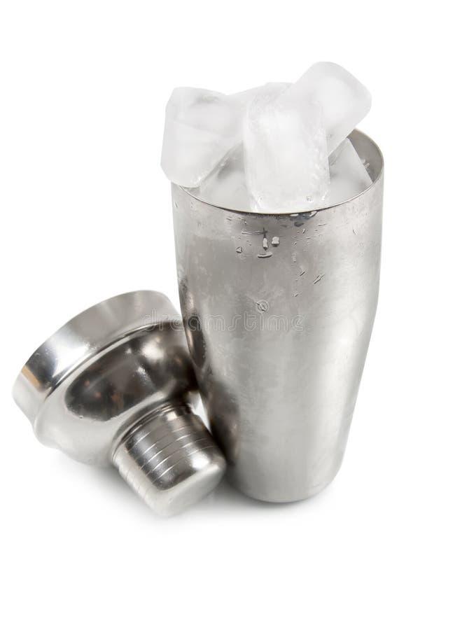 Shaker met ijs stock afbeelding