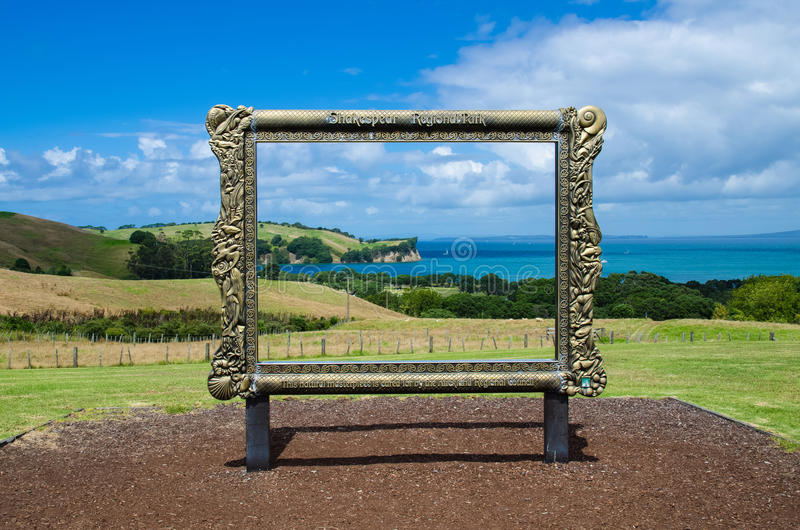Shakespear Regionaal Park, het Gebied van Auckland, Nieuw Zeeland royalty-vrije stock foto