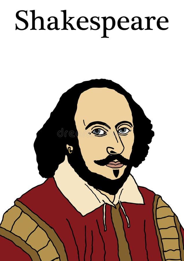 Shakespeare 2 vektor illustrationer