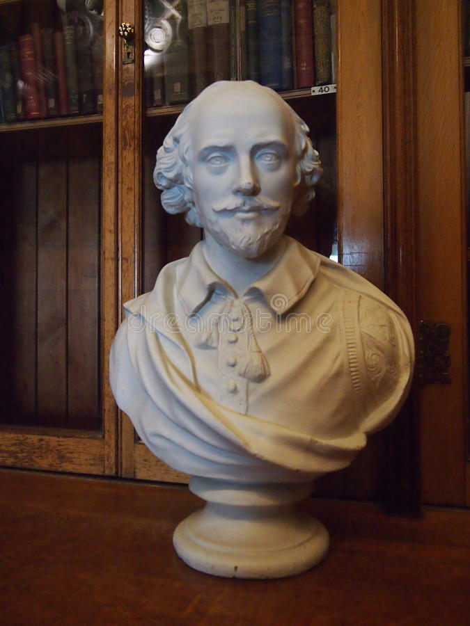 Shakespeare byst royaltyfri bild