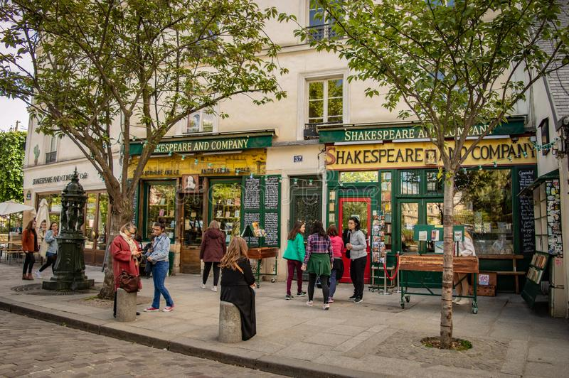 Shakespeare and co royalty free stock photography