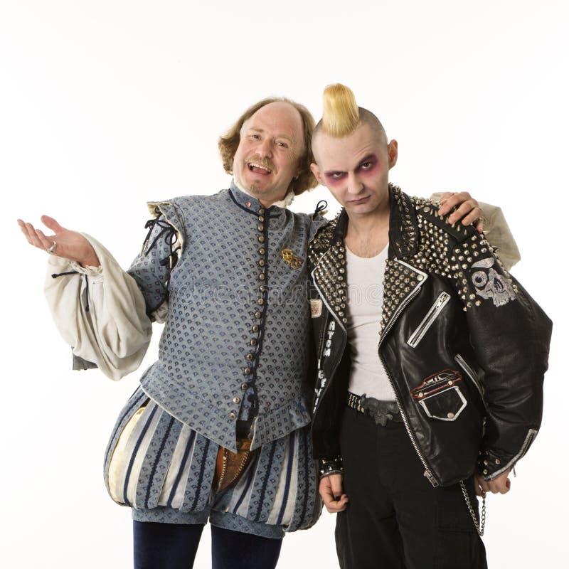 Shakespeare et homme de goth. images stock