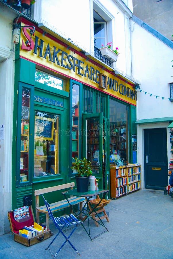 Shakespeare et librairie de Company à Paris images libres de droits