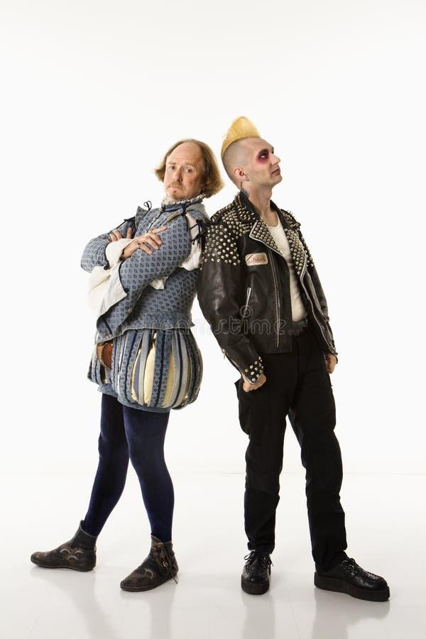 Shakespeare et punk. photo libre de droits