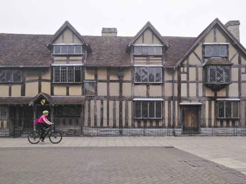 Shakespeare födelseort i stratford-på-Avon, london arkivfoto