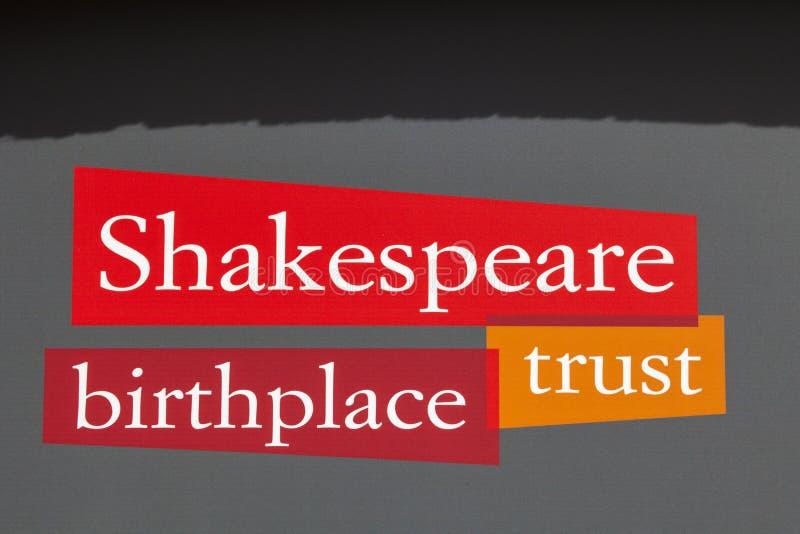 Shakespeare födelseortförtroende i Stratford-På-Avon royaltyfri foto