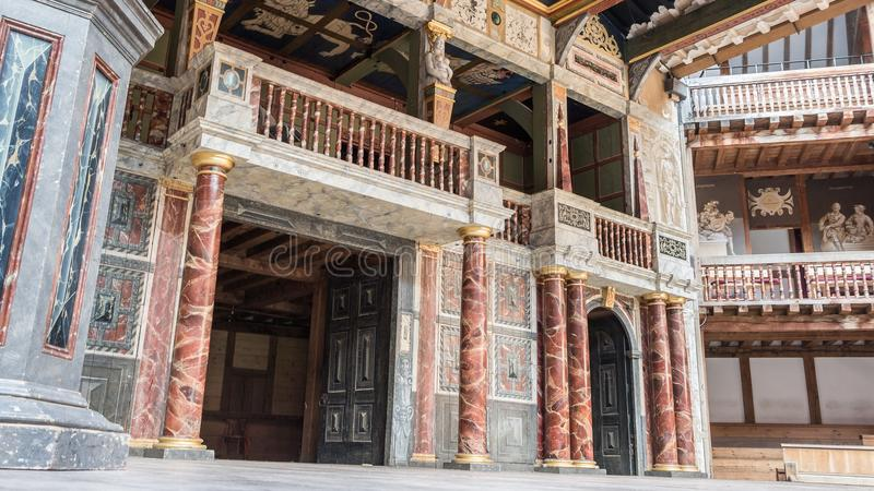 Shakespeare Globe theatre in London UK royalty free stock photo