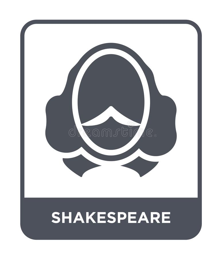 shakespeare icon in trendy design style. shakespeare icon isolated on white background. shakespeare vector icon simple and modern vector illustration
