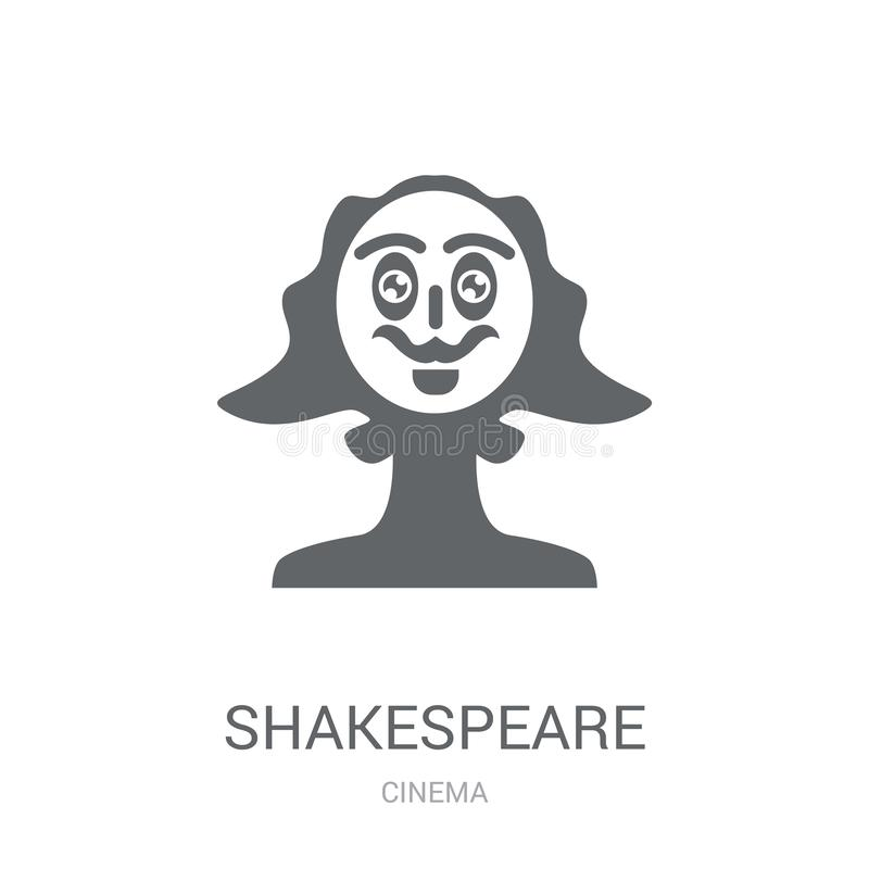 Shakespeare icon. Trendy Shakespeare logo concept on white background from Cinema collection royalty free illustration