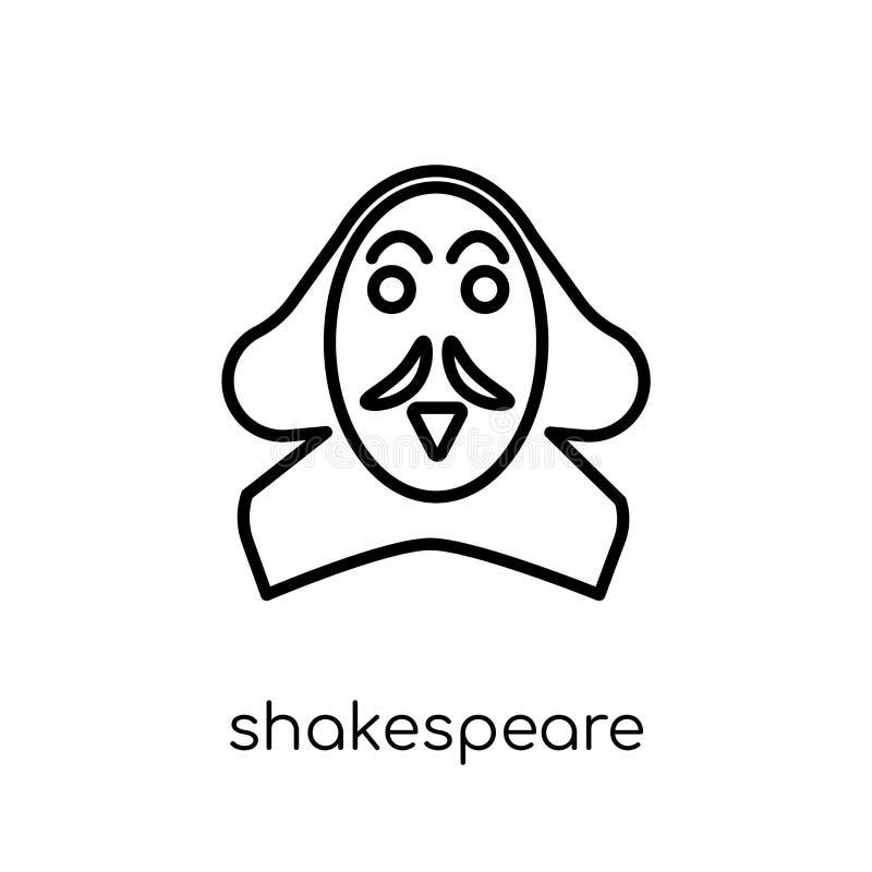 Shakespeare icon. Trendy modern flat linear vector Shakespeare i royalty free illustration