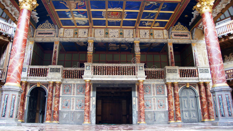 Shakespeare-Kugel-Theater in London stockfoto