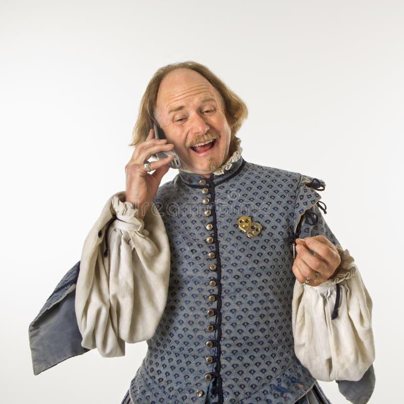 Shakespeare que habla en el teléfono. fotografía de archivo libre de regalías
