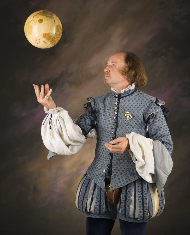 Shakespeare que sacude el globo. fotografía de archivo