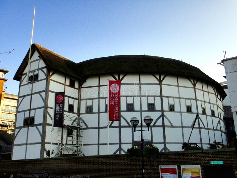 Shakespeare's Globe, Bankside, Southwark, London. Shakespeare's Globe is a reconstruction of the Globe Theatre, an Elizabethan playhouse in the London Borough of royalty free stock photo
