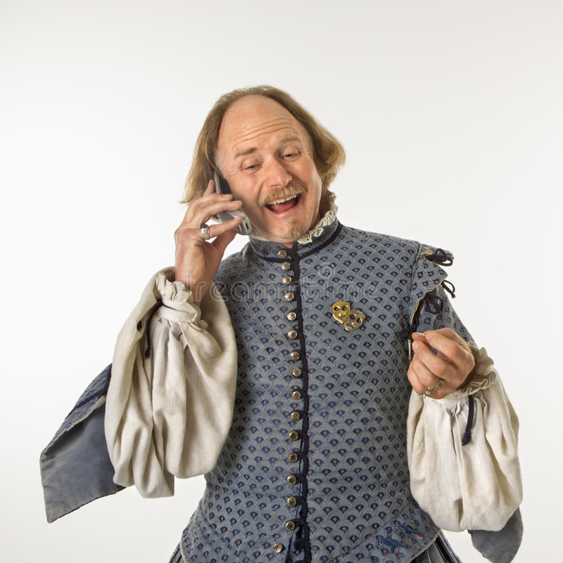 Download Shakespeare Talking On Phone. Royalty Free Stock Photography - Image: 2678467