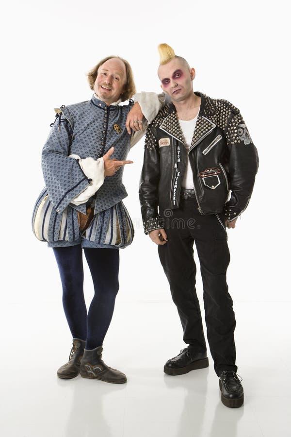 Shakespeare und Punk. lizenzfreies stockbild