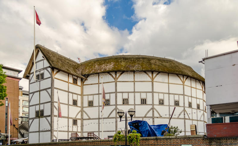 Shakespeares jordklotteater i London arkivfoto